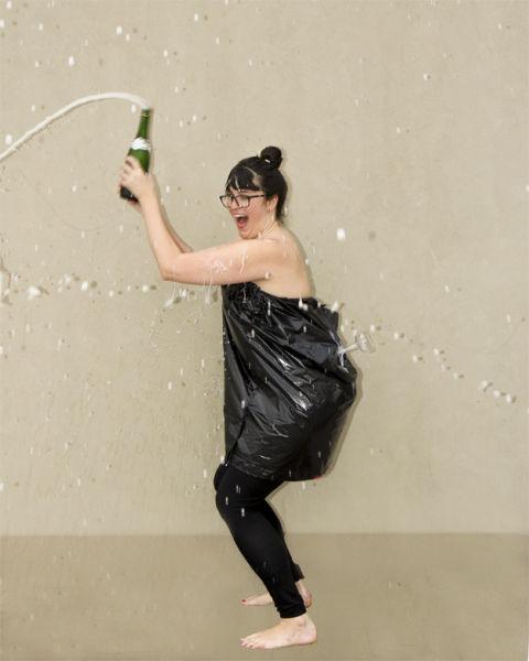 Kim Kardashian Sparks a Champagne Catching Craze