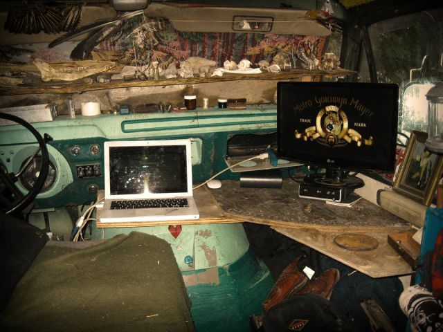 A Camper Van Hideout for the Winter