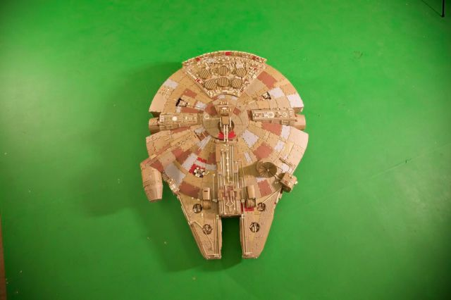 An Awesome Self-made Millennium Falcon Replica