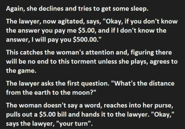 One Woman's Genius Troll on a Pesky Lawyer