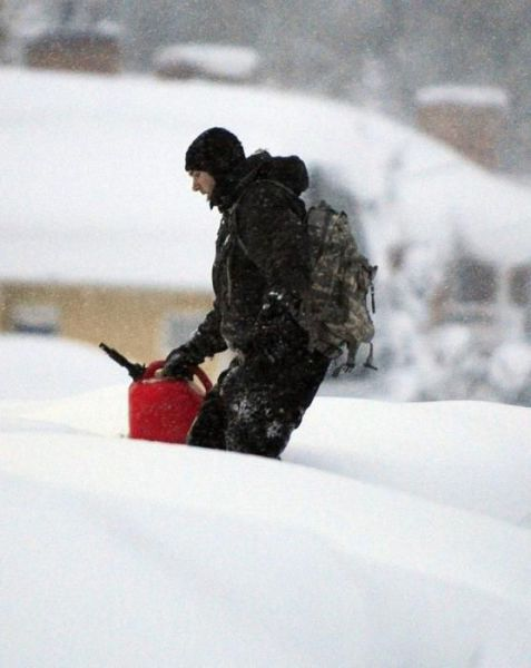 Snow Drowns Buffalo City, New York