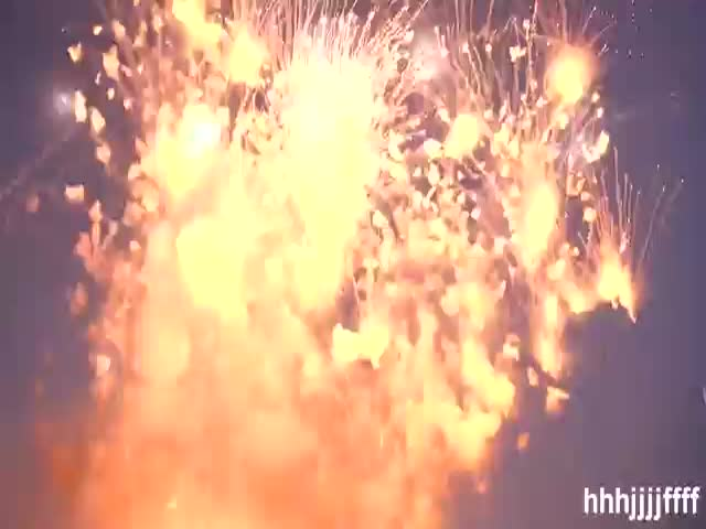 Entire Stockpile of Fireworks Explodes at Once