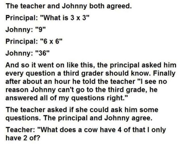 The Smart First Grader vs. the School Principal