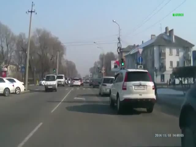 Hit and Run. Literally!  (VIDEO)
