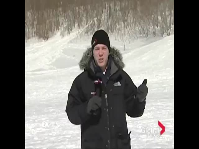 The Best Snow Related News Bloopers Ever  (VIDEO)
