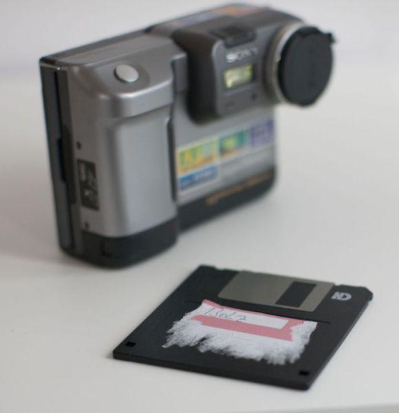 A Cool Old-School Floppy Disk Digital Camera