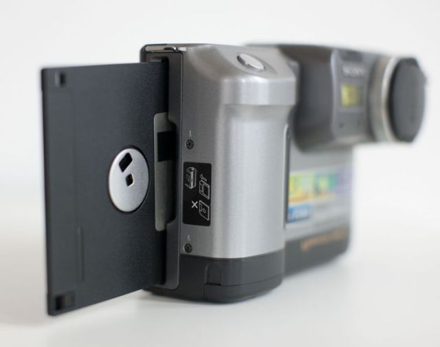 A Cool Old-School Floppy Disk Digital Camera