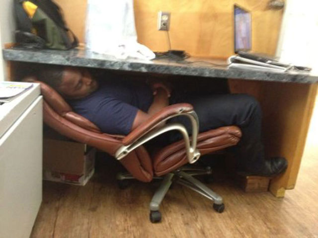 People Sleeping in Weird and Wacky Places