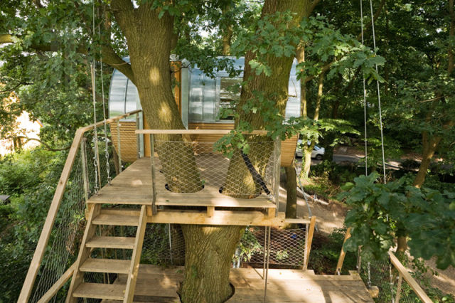 A Modern Treehouse That Is a Sanctuary in the Sky