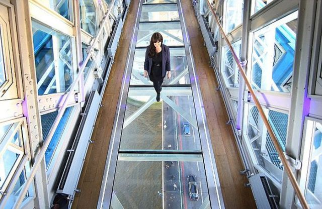 This Is Not What You Want to Happen on a Glass Walkway