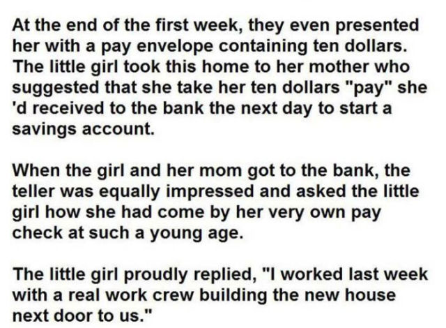 A 5 Year Old Girl's Amusing Relationship with a Construction Crew