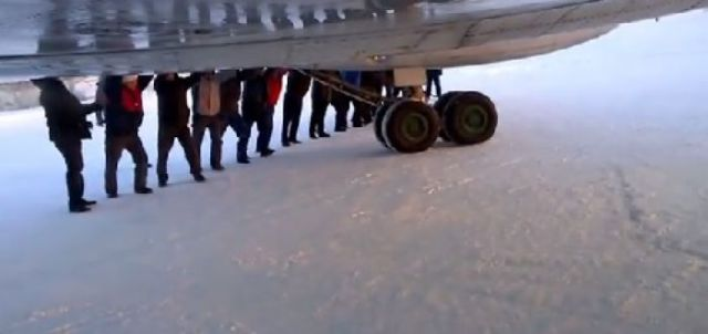 The Strangest Sight on a Runway in Russia