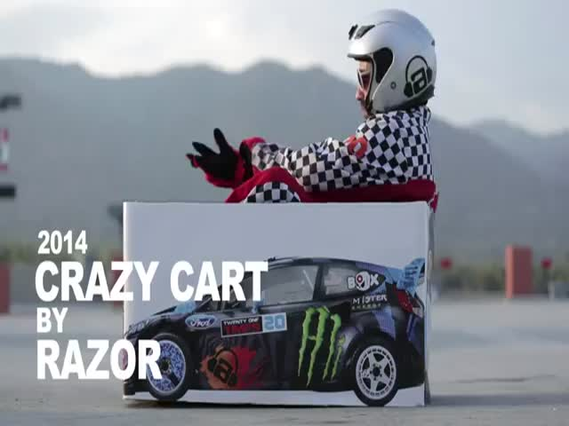 A Crazy Kart Parody/Tribute to Ken Block's Gymkhana Videos - Part 2  (VIDEO)