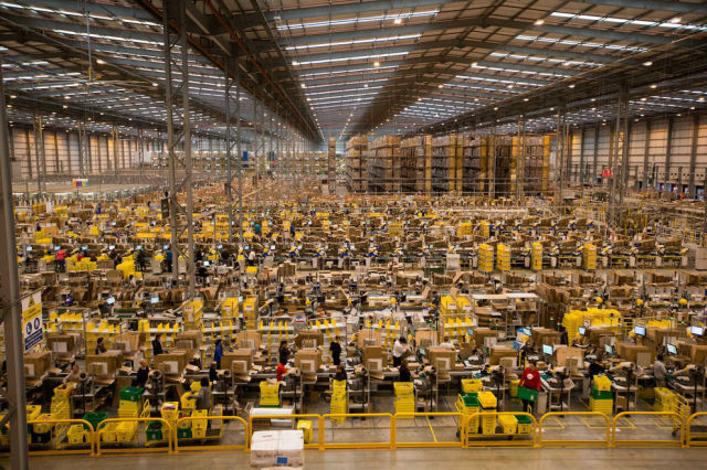 What an Amazon Warehouse Looks like a Month Before Christmas