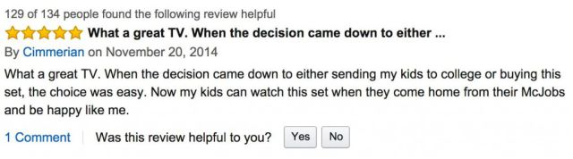 Amazon Users Leave Hilariously Sarcastic Reviews of the Most Expensive TV Ever Sold
