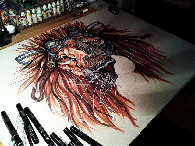 An Incredible Steampunk Lion Artwork That Is Truly Stunning