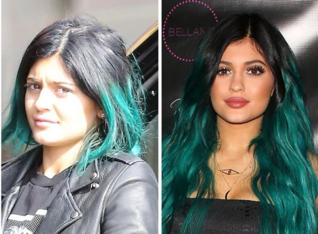 The Kardashian's with and without Makeup