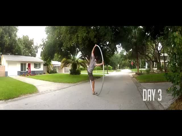 Man Got a Cyr Wheel and Learnt to Use It in 30 Days