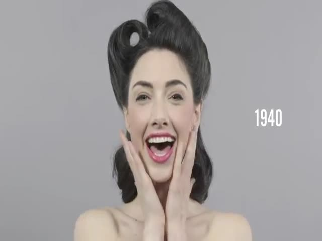 100 Years of Beauty in One Minute