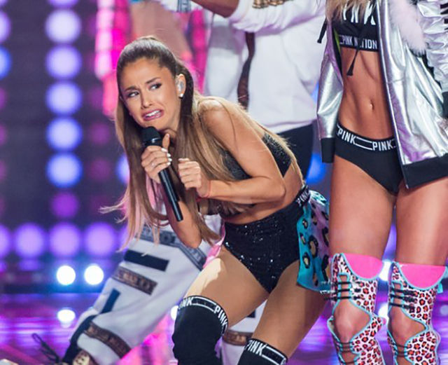 Ariana Grande's Priceless Cringing Face