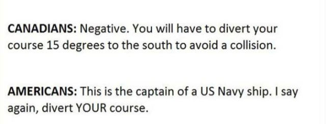 An Amusing Encounter between a US Naval Ship and the Canadian Authorities