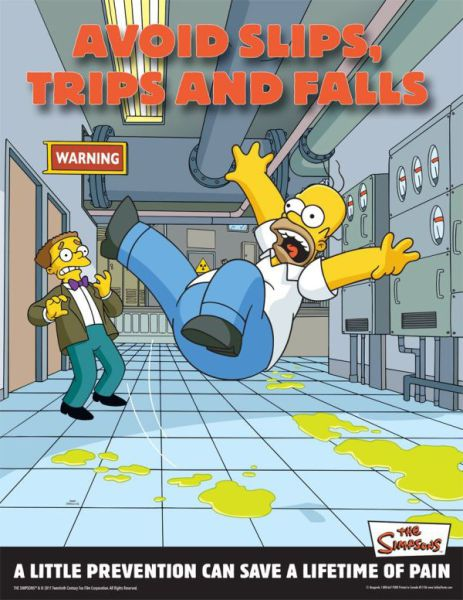 "Tips on Work Safety from ""The Simpsons"""
