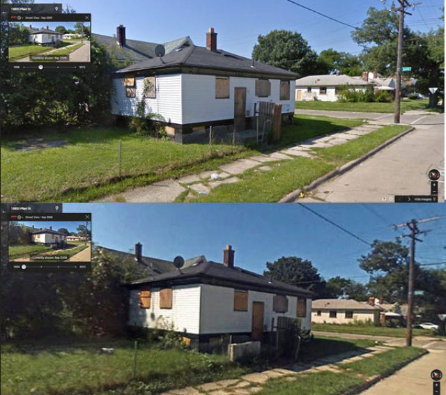 Google Street View Captures Detroit's Deterioration on Time-lapsed Photos