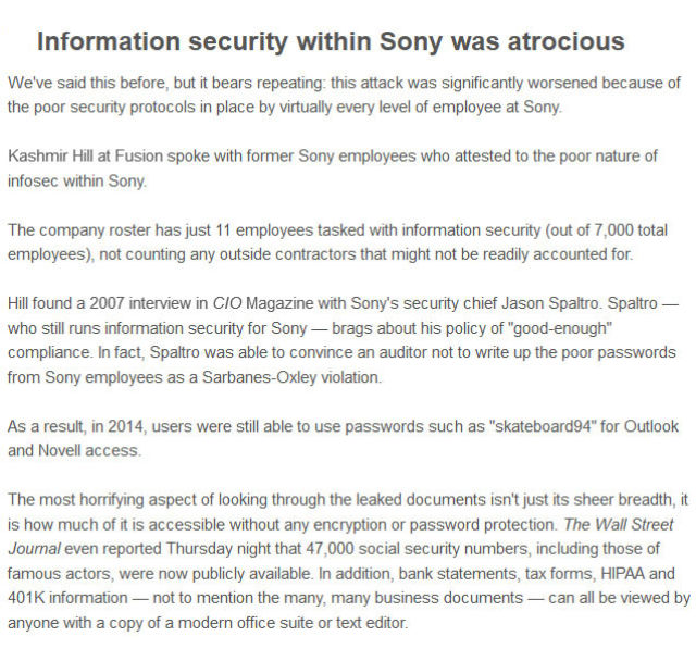 Sony's Secrets Leaked to the Public