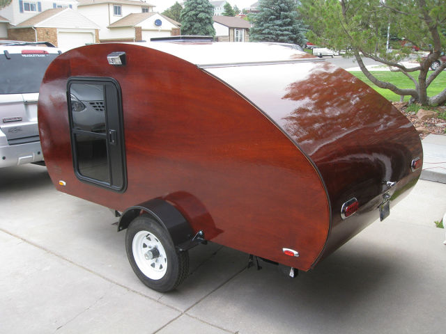 A Beautiful Hand Built Teardrop Trailer