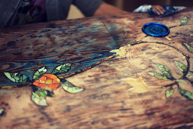 A Stunning Self-made Mosaic Table