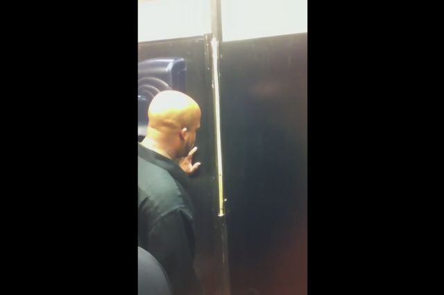Drunk Guy Stuck in Bathroom Gets Out in Spectacular Fashion