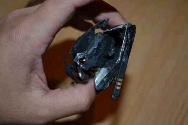 An Exploding Samsung Cell Phone