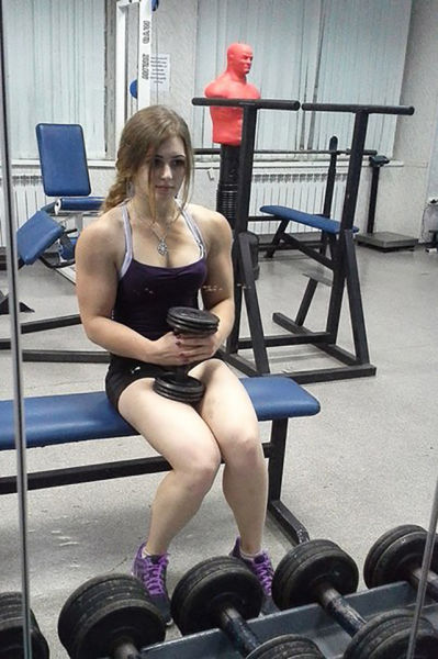 This Girl Has Sweet Barbie Doll Looks but Packs a Lot of Muscle