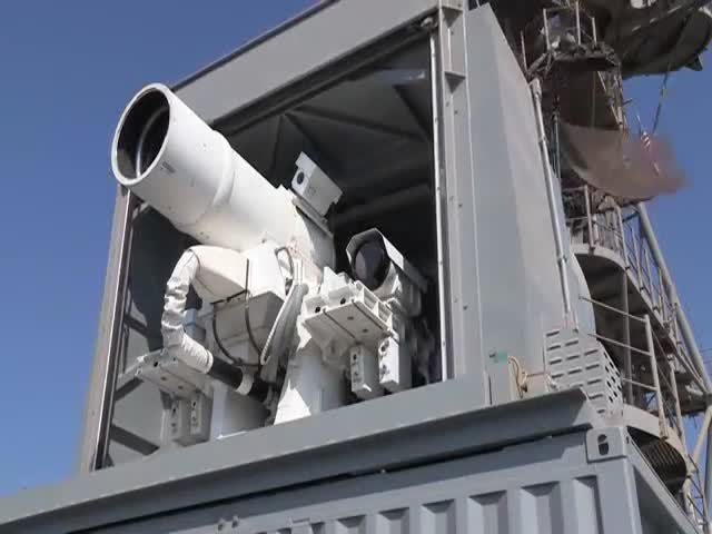 US Navy Shows Off Their New Laser Weapon System