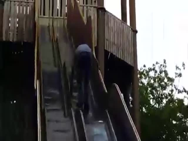 There Was a Good Reason for This Slide to Be Closed to the Public  (VIDEO)
