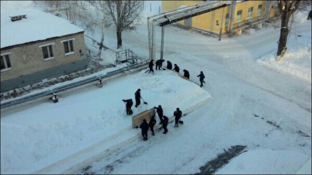 Even the Snow Is Perfect in the Russian Army