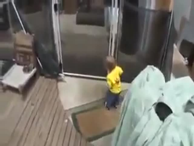 Toddler Falls into the Pool