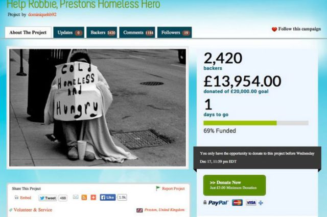 An Amazing Payback for One Kind Homeless Man