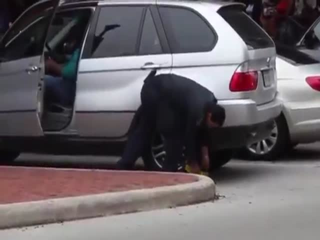 Woman Gets Her BMW Booted, Clearly Doesn't Give a F*ck
