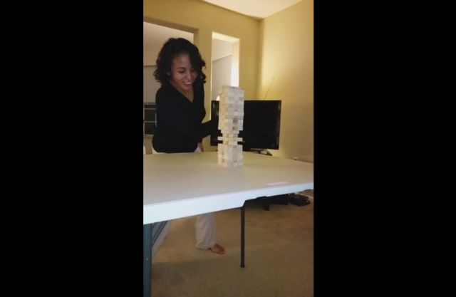Unbelievable Jenga Play