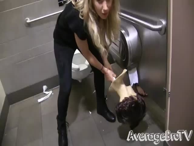 Peeking into Bathroom Stalls Prank