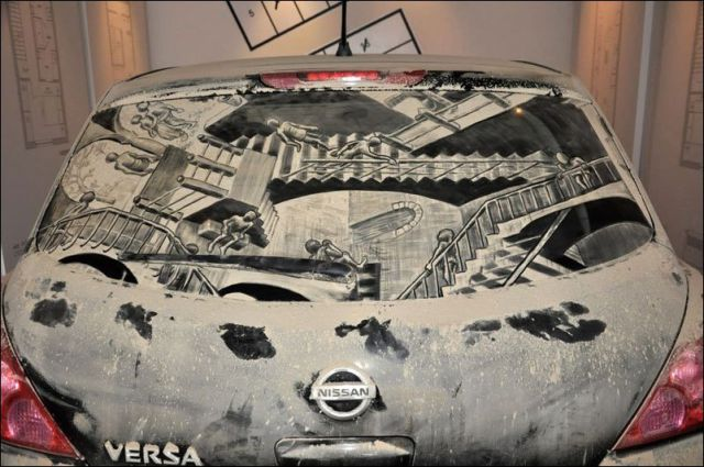 A Dirty Car Is Just a Blank Canvas for Awesome Art