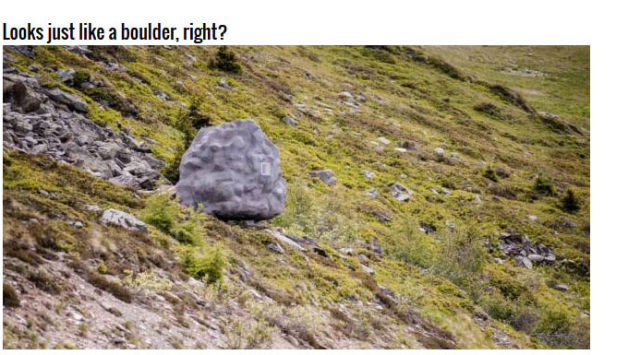 The Boulder That Wasn't a Boulder