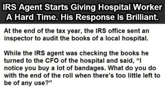 IRS Guy Tries to Get Clever But Fails