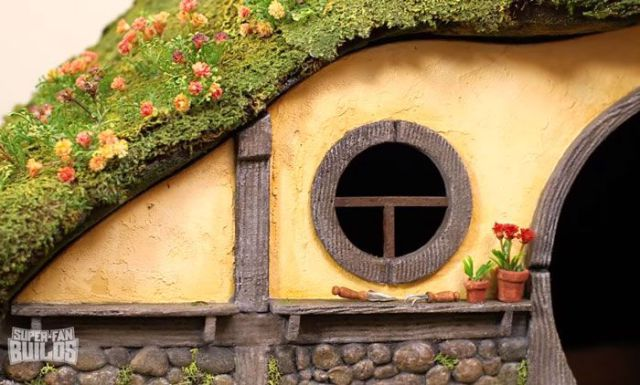 This Cat Litter Box is a Replica of Bilbo Baggins House from The Hobbit