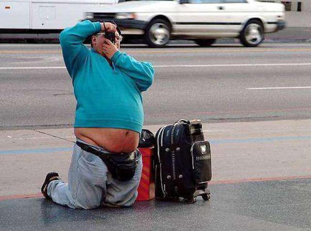 Tourists Taking Terrible Snapshots on Vacation