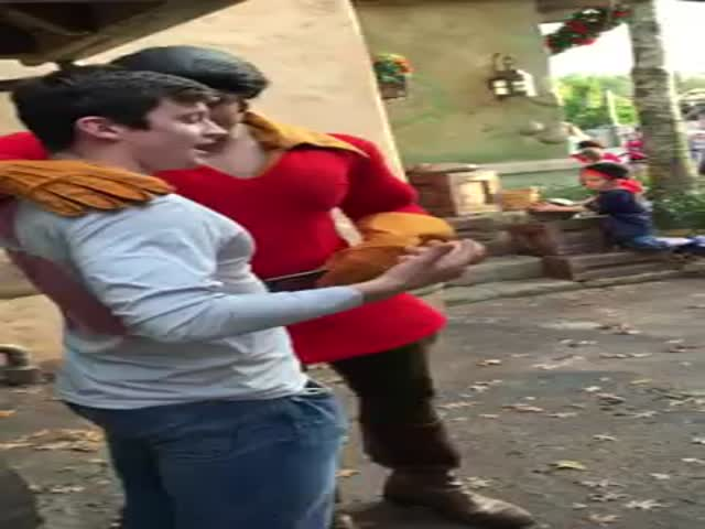 Never Challenge Gaston to a Push-up Contest at Disney World