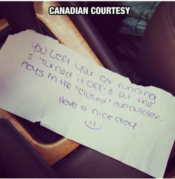 Canadians Are the Most Courteous People in the World