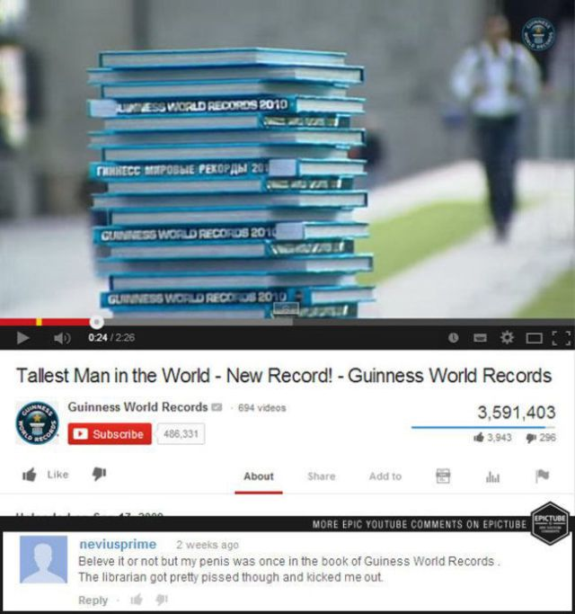 The Best YouTube Comments Posted in 2014