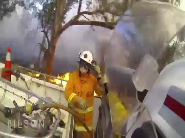 A Firefighter's Perspective While Saving Homes from Bushfires